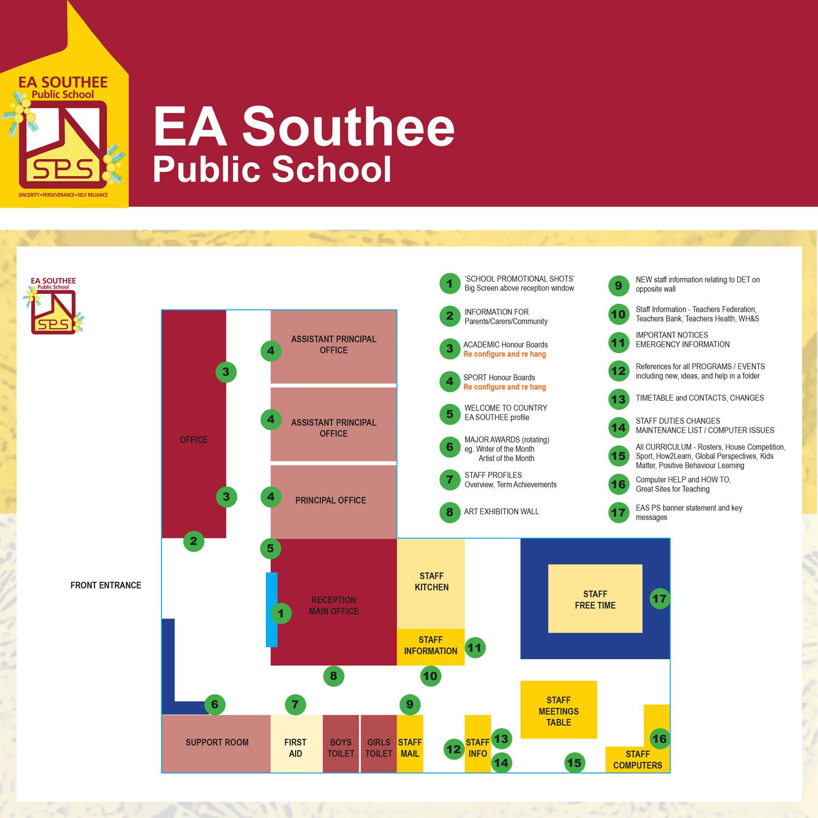 E A Southee Public School branding