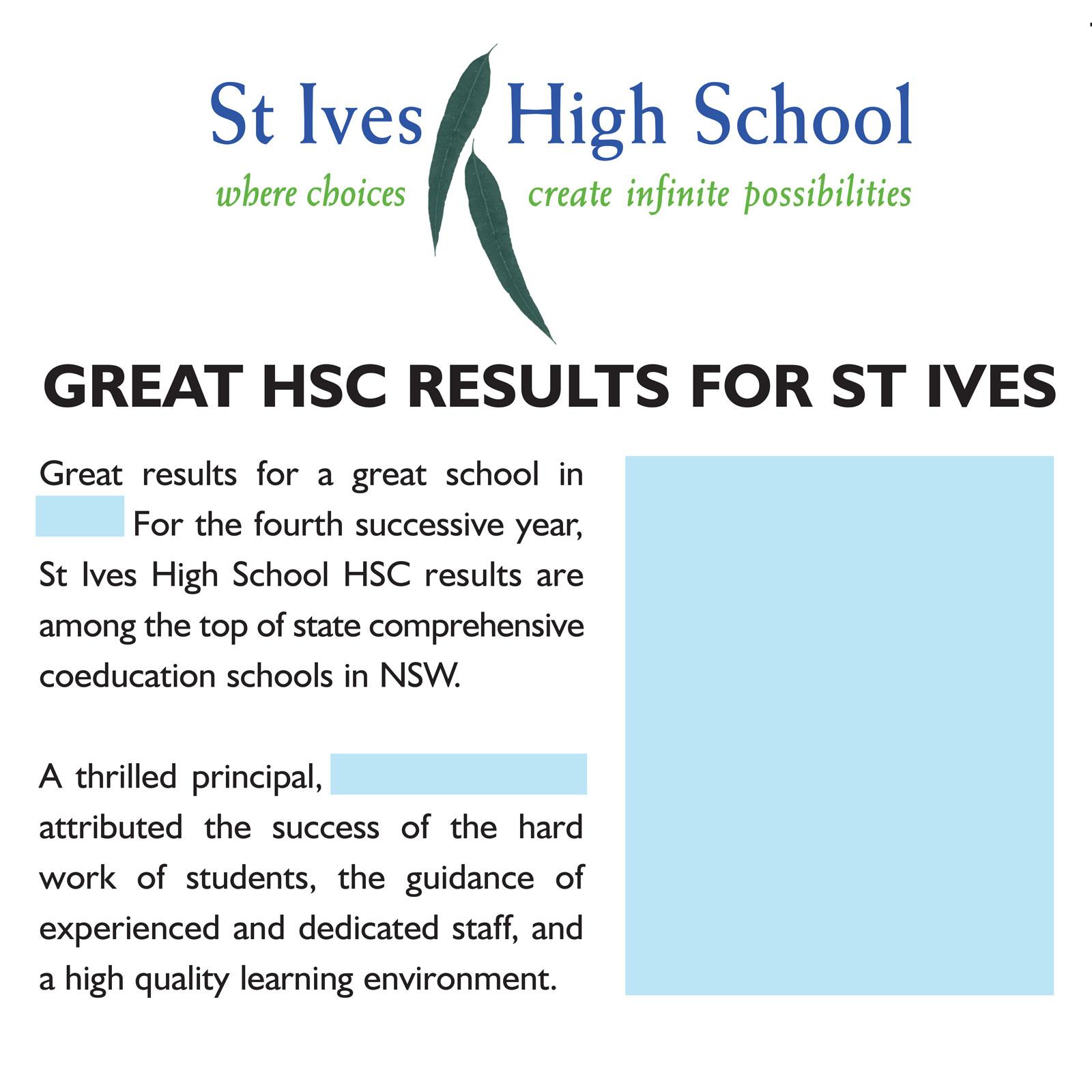 St Ives High School media advertisement